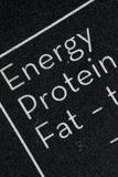 Black and white nutrition facts table royalty free stock photography