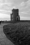 Black and White OBriens Tower Ireland Royalty Free Stock Photo