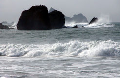 Black and White Ocean. Pacifica, California royalty free stock photo