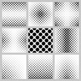 Black and white octagon pattern background set. Black and white octagon pattern background design set vector illustration
