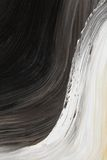 Black and white oil-painted curve Stock Image