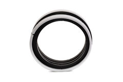 Black and white oil seal isolated on white background Stock Images