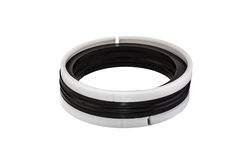 Black and white oil seal isolated on white background Royalty Free Stock Image
