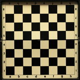Black and white old empty chess board Royalty Free Stock Photography