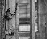Old iron gate lock royalty free stock images