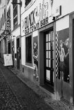 Black and white - Old town bar royalty free stock photos