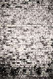 Black and white of old vintage brick wall. With vignetted corners Stock Photography