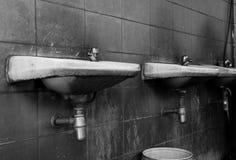Black and white of old washbasin Stock Photo