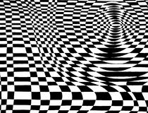 Black and White Op Art Checkered Royalty Free Stock Photo
