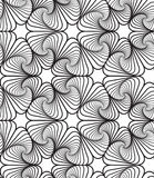 Black and White Op Art Design Vector Seamless Pattern Background Stock Image