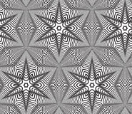 Black and White Op Art Design Vector Seamless Pattern Background Royalty Free Stock Images