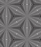 Black and White Op Art Design Vector Seamless Pattern Background Royalty Free Stock Image