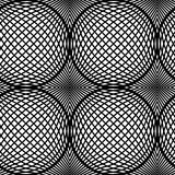 Black and White Op Art Design Vector Seamless Pattern. Stock Image