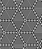Black and White Op Art Design Stock Photo
