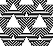 Black and White Op Art Design Royalty Free Stock Photo