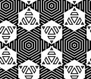 Black and White Op Art Design Royalty Free Stock Photography