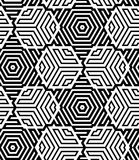 Black and White Op Art Design Royalty Free Stock Images