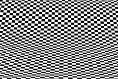 Black white op-art. A background of a distorted sheet of  plastic squares Royalty Free Stock Photo