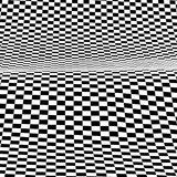 Black and white  background. A background of a distorted sheet of  plastic squares Stock Photos