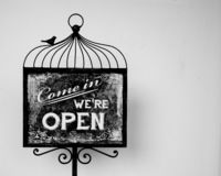 Come In We are Open Sign stock images