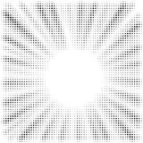 Pop art sun rays halftone dots royalty free illustration