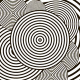 Black and white optical illusion vector background Royalty Free Stock Photos