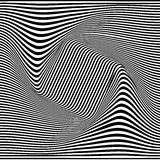 A black and white optical illusion. Vector Illustration Royalty Free Stock Photo