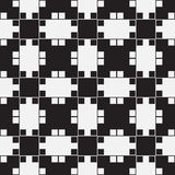 Black and White Optical Illusion, Vector Seamless Pattern. Royalty Free Stock Photos