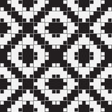 Black and White Optical Illusion, Vector Seamless Pattern. Royalty Free Stock Images