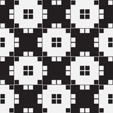 Black and White Optical Illusion, Vector Seamless Pattern. Stock Image