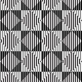 Black and White Optical Illusion, Vector Seamless Pattern. Black and White Optical Illusion, Vector Seamless Pattern Background. Same Rhombuses Looks Different Royalty Free Stock Photo