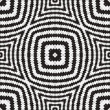 Black and White Optical Illusion, Vector Seamless Pattern. Royalty Free Stock Photo