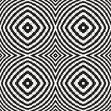 Black and White Optical Illusion, Vector Seamless Pattern. Royalty Free Stock Image