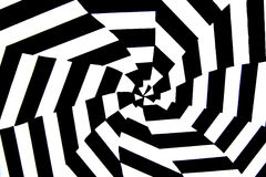 Black and white background. A black and white painted op art background Stock Photos