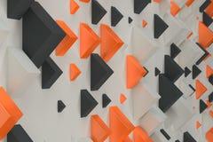 Black, white and orange rectangular shapes of random size on whi Royalty Free Stock Images