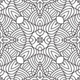 Black and white oriental pattern. Seamless geometric wallpaper Stock Photo