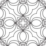 Black and white oriental pattern Stock Image
