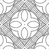 Black and white oriental pattern Stock Photography