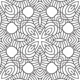 Black and white oriental pattern. Seamless geometric wallpaper Stock Images