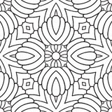 Black and white oriental pattern Royalty Free Stock Images