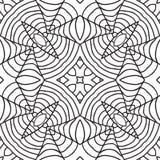 Black and white oriental pattern. Seamless geometric wallpaper Royalty Free Stock Photos