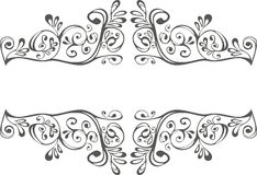 Black and white ornament Royalty Free Stock Photography
