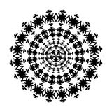 Black and white ornament Royalty Free Stock Image