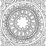 Black and white ornament. Floral mandala. Hand drawn pattern Stock Photo