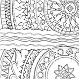 Black and white ornament. Hand drawn pattern Royalty Free Stock Image
