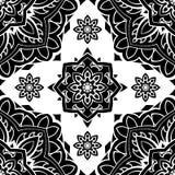 Black and white ornament. Stock Photo