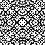 Black and white ornament, seamless pattern Stock Image