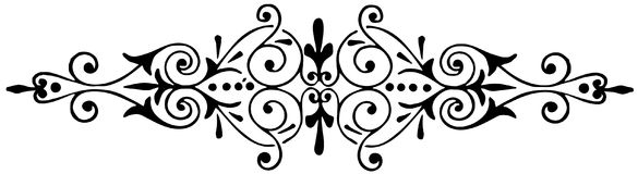 Ornament floral black and white vector Royalty Free Stock Photography