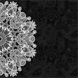 Black and white ornamental circle template with Royalty Free Stock Photo