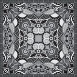 Black and white ornamental floral paisley bandanna Stock Image
